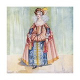 A Woman of the Time of James I 1603-1625 Giclee Print by Dion Clayton Calthrop