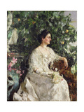 Portrait of Mrs Shine, 1908 Giclee Print by Antonio Mancini