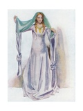 A Woman of the Time of Stephen 1135-1154 Giclee Print by Dion Clayton Calthrop