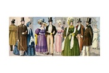 19th Century Costumes Giclee Print by Tancredi Scarpelli