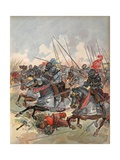 The Gendarmerie Masking Artillery at the Battle of Pavia, Illustration from 'Francois Ier: Le Roi… Giclee Print by Albert Robida