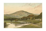 Ben Ledi from Callander Bridge Giclee Print by  English School