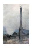 Nelson's Column in a Fog Giclee Print by Rose Maynard Barton