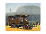 Buses and the Railways Giclee Print by Harry Green