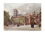 Westminster Abbey, from Westminster School Giclee Print by John Fulleylove