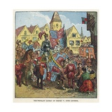 Triumphant Entry of King Henry V into London after the Battle of Agincourt Giclee Print by  English School