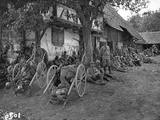 Soldiers Resting in a Camp, c.1916 Photographic Print by Jacques Moreau