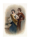 Florizel and Perdita from the Winter's Tale Giclee Print by Charles Robert Leslie