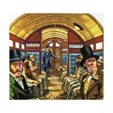 London Underground Carriage Giclee Print by Harry Green