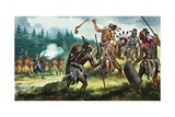 Iroquois Confederacy Giclee Print by Ron Embleton