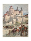 Francis I Held Prisoner in a Tower of Alcazar in Madrid, Illustration from 'Francois Ier: Le Roi… Giclee Print by Albert Robida