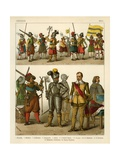 German Costumes 1600 Giclee Print by Albert Kretschmer