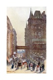 Villiers Street, Charing Cross Giclee Print by Rose Maynard Barton