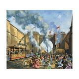 Opening of the Liverpool and Manchester Railway Giclee Print by Harry Green