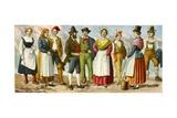 Regional Italian Dress Giclee Print by Tancredi Scarpelli