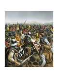 Battle of Agincourt Giclee Print by Mike White