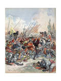 The King at the Battle of Pavia, Illustration from 'Francois Ier: Le Roi Chevalier, by George G.… Giclee Print by Albert Robida