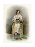 Ophelia from Hamlet Giclee Print by Richard Redgrave