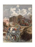 Bayard at the Siege of Mezieres, Illustration from 'Francois Ier: Le Roi Chevalier, by George G.… Giclee Print by Albert Robida