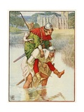 Robin Hood and Father Tuck Giclee Print by Walter Crane