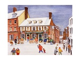 The White Bear, Hampstead, 1990 Giclee Print by Gillian Lawson