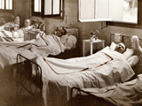 Wounded Soldiers from the Battlefield Near Laffaux at Saint-Paul Hospital During World War I,… Photographic Print by Fernand Cuville