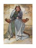 A Woman of the Time of Richard I 1189-1199 Giclee Print by Dion Clayton Calthrop