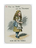 Alice and the Thimble Giclee Print by John Tenniel