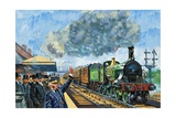Railway Rivalry Giclee Print by Harry Green