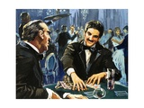 Gambling at Monte Carlo Giclee Print by  English School