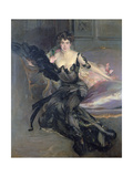 Portrait of a Lady: Mrs Lionel Phillips, 1903 Giclee Print by Giovanni Boldini