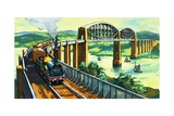 Brunel's Royal Albert Bridge at Saltash Giclee Print by Harry Green