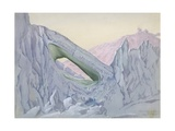 Cave Berg Off Cape Evans, 5:30pm, Sept 1, 1911 Giclee Print by Edward Adrian Wilson