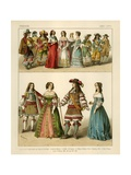French Costumes 1600-1670 Giclee Print by Albert Kretschmer