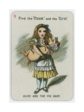 Alice and the Pig Baby Giclee Print by John Tenniel