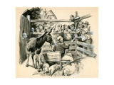 Pickwick in the Pound Giclee Print by Barrie Linklater