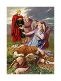 Tristan Und Isolde, Last Act Giclee Print by Fred Leeke