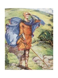 A Man of the Time of William I 1066-1087 Giclee Print by Dion Clayton Calthrop