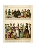German Costumes 1700 Giclee Print by Albert Kretschmer