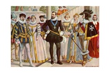 French Costumes of the 16th and 17th Centuries Giclee Print by Tancredi Scarpelli