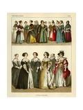 Netherlands Costumes 1600 Giclee Print by Albert Kretschmer