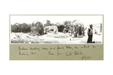 Bedouin Family and Dwelling, Khan Yunis, July 1917 Giclee Print by Capt. Arthur Rhodes
