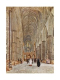 Nave of Westminster Abbey Giclee Print by John Fulleylove