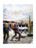 Wyatt Earp and the Battle of the Ok Corral Giclee Print by  English School
