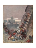 Bourbon Killed During the Assault on Rome, 6th May 1527, Illustration from 'Francois Ier: Le Roi… Giclee Print by Albert Robida