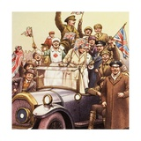 Celebrations Post World War I Giclee Print by Pat Nicolle