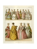 French Costumes 1700-1750 Giclee Print by Albert Kretschmer