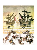 Slaves Being Embarked on the West Coast of Africa Giclee Print by Angus Mcbride