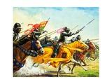 Bartolomeo Colleoni Leading His Men into Battle Giclee Print by Severino Baraldi