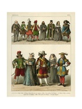 German Costume 1600 Giclee Print by Albert Kretschmer
